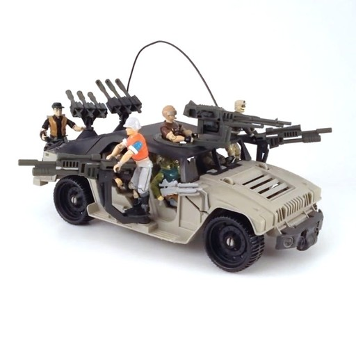 GI Joe Vehicle Battle Force 2000 Eliminator Side Pivot Gun 1987 Original Part