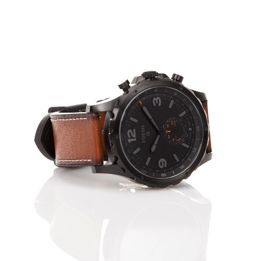 f0f8e0e9f3839 Fossil Q Nate 50mm Leather Hybrid Smartwatch - Brown Black ...