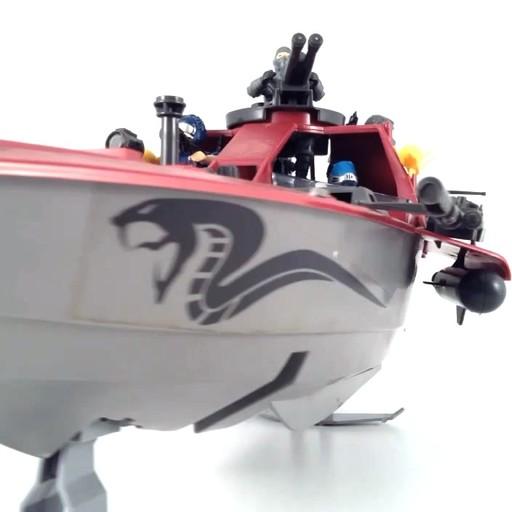 GI Joe Cobra Moray Hydrofoil Reproduction Left /& Right Side Cannons Pair