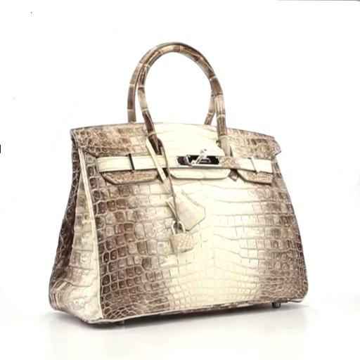 2ba71e0f7c Hermes 30cm Matte White Himalayan Nilo Crocodile Birkin Bag