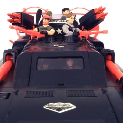 Gi Joe Night force Night Striker 1988 Gear Box Vehicle part
