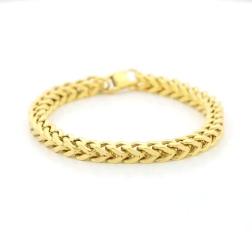 rock mens in foxtail hop men item link gold franco stainless jewelry bracelet for from heavy chain hip color steel bracelets box